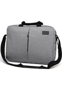 Szara torba na laptopa NoName