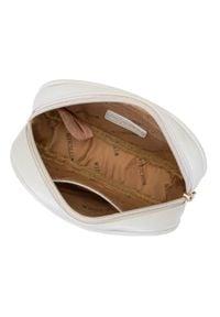 Wittchen - Damska torebka nerka owalna pikowana. Kolor: biały. Materiał: skóra ekologiczna. Wzór: geometria