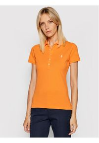 Polo Ralph Lauren Polo 211505654092 Pomarańczowy Slim Fit. Typ kołnierza: polo. Kolor: pomarańczowy