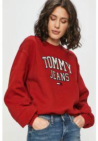Czerwona bluza Tommy Jeans bez kaptura, na co dzień, długa