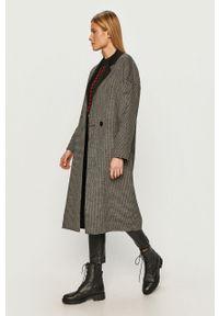 Czarny płaszcz Silvian Heach bez kaptura, casualowy, na co dzień