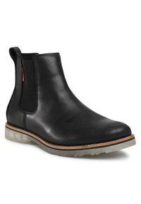 Czarne buty zimowe Big-Star z cholewką
