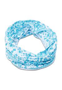 Bagheera - Komin BAGHEERA - Tube 85961-22 Turquoise/White C9208. Kolor: biały, niebieski, wielokolorowy. Materiał: poliester, materiał