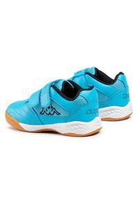 Kappa - Sneakersy KAPPA - Kickoff K 260509K Azur/Black 6211. Zapięcie: rzepy. Kolor: niebieski. Materiał: skóra ekologiczna, materiał. Szerokość cholewki: normalna #6