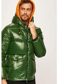 Zielona kurtka After Label na co dzień, z kapturem