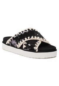 Mou Klapki Criss Cross Bio Sandal Plain SW251003G Czarny. Kolor: czarny