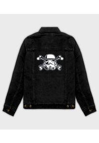 MegaKoszulki - Kurtka jeansowa damska Stormtrooper crossbones. Materiał: jeans. Wzór: nadruk. Sezon: wiosna. Styl: klasyczny