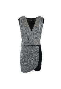 """Pinko Sukienka """"Gastone"""". Okazja: na co dzień. Materiał: tkanina. Długość rękawa: bez rękawów. Wzór: aplikacja. Typ sukienki: proste. Styl: casual. Długość: mini"""