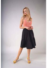 Czarna spódnica rozkloszowana Nommo