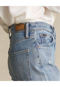 Ralph Lauren - RALPH LAUREN - Jeansy z wysokim stanem Callen. Stan: podwyższony. Kolor: niebieski. Wzór: aplikacja