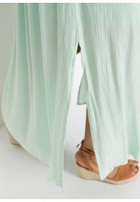 Zielona sukienka bonprix w koronkowe wzory, maxi