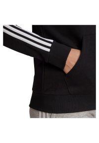 Adidas - Bluza damska adidas Essentials 3-Stripes Hoodie GL0792. Typ kołnierza: kaptur. Materiał: poliester, bawełna, materiał, wiskoza. Sport: fitness
