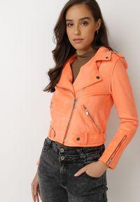 Born2be - Pomarańczowa Ramoneska Lilah. Kolor: pomarańczowy