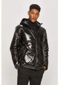 Srebrna kurtka Karl Lagerfeld na co dzień, z kapturem, casualowa
