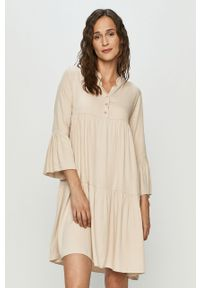 Beżowa sukienka Haily's casualowa, mini, na co dzień, oversize