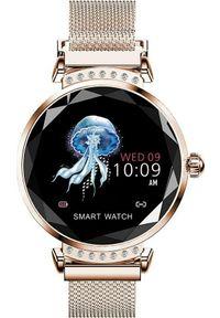 Złoty zegarek Aludra smartwatch