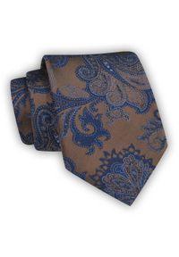 Chattier - Męski, Brązowy Krawat, w Kwiaty, Klasyczny, Szeroki 8 cm, Elegancki -CHATTIER. Kolor: beżowy, brązowy, wielokolorowy. Materiał: tkanina. Wzór: kwiaty. Styl: klasyczny, elegancki