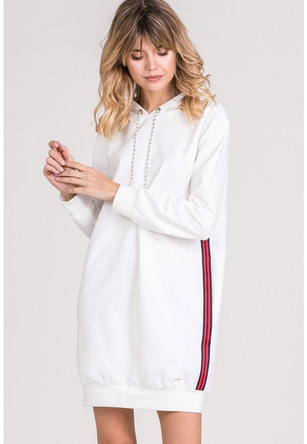 Biała tunika Monnari długa, sportowa, na co dzień