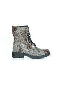 Botki Zapato wąskie, w kolorowe wzory, na zimę