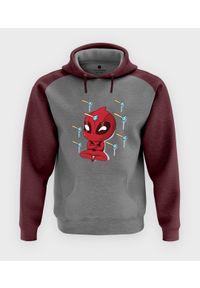 MegaKoszulki - Bluza męska dwukolorowa Cute Deadpool
