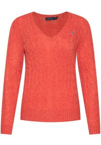 Pomarańczowy sweter klasyczny Polo Ralph Lauren polo