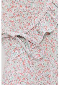 Pieces - Strój kąpielowy. Kolor: biały. Materiał: dzianina