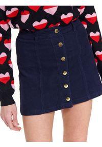 Niebieska spódnica TROLL krótka, na co dzień, w kolorowe wzory #7
