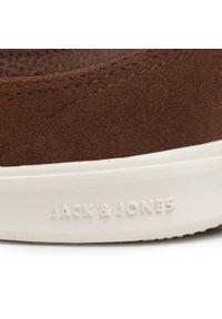 Brązowe półbuty Jack & Jones z cholewką, casualowe