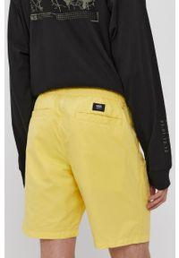 Żółte szorty Vans casualowe, gładkie