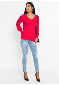 Czerwony sweter bonprix na wiosnę