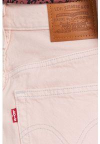 Levi's® - Levi's - Spódnica jeansowa. Okazja: na co dzień, na spotkanie biznesowe. Kolor: różowy. Materiał: jeans. Wzór: gładki. Styl: casual, biznesowy