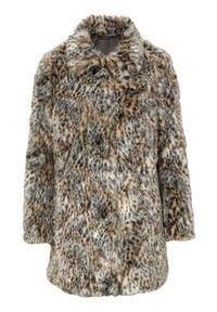 Cellbes Płaszcz ze sztucznego futra we wzory female ze wzorem 50/52. Materiał: futro. Styl: elegancki