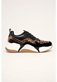 Brązowe buty sportowe Bullboxer z cholewką, na sznurówki