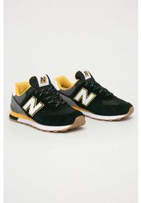 Czarne sneakersy New Balance na sznurówki, New Balance 574, z okrągłym noskiem