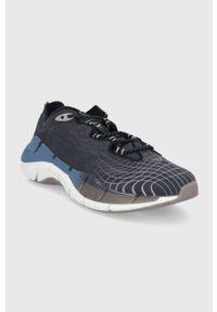 Czarne buty sportowe Reebok z cholewką, na sznurówki