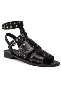 Czarne sandały Eva Minge