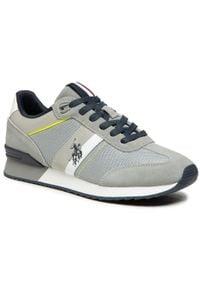 U.S. Polo Assn - Sneakersy U.S. POLO ASSN. - Austen2 FERRY4122S0/TS1 Ligr. Okazja: na co dzień. Kolor: szary. Materiał: skóra, materiał, zamsz. Szerokość cholewki: normalna. Styl: elegancki, casual