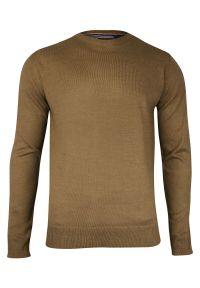 Beżowy sweter Brave Soul z okrągłym kołnierzem, biznesowy, do pracy