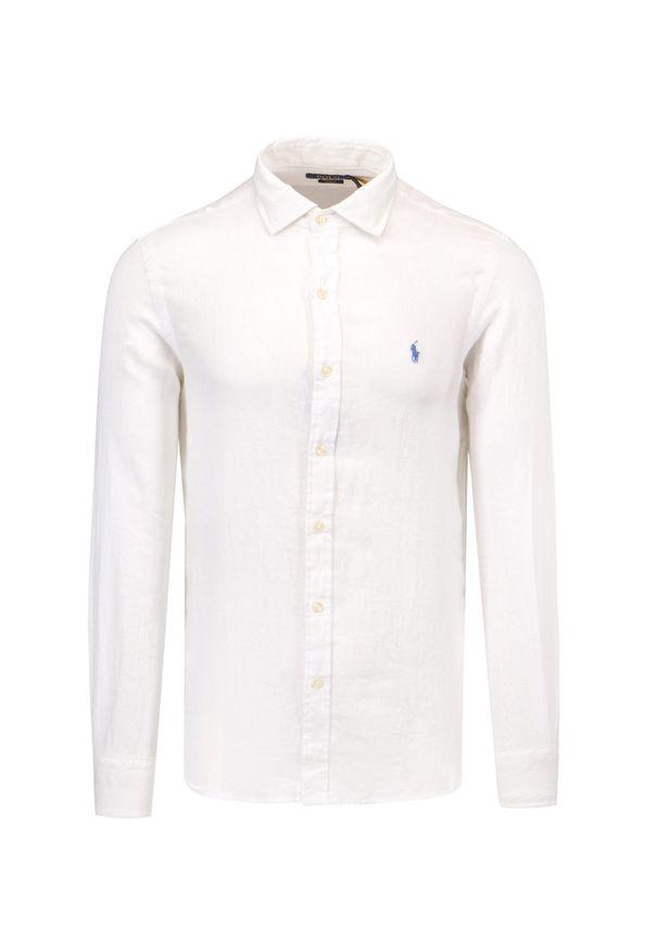 Polo Ralph Lauren - Koszula lniana POLO RALPH LAUREN SLESTPPCS. Typ kołnierza: polo. Materiał: len. Wzór: paski