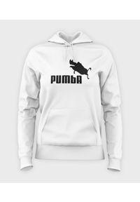 MegaKoszulki - Bluza damska z kapturem Pumba. Typ kołnierza: kaptur