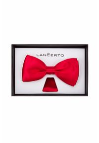 Czerwona muszka Lancerto w kolorowe wzory, klasyczna