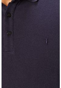 Niebieska koszulka z długim rękawem Trussardi Jeans casualowa, na co dzień