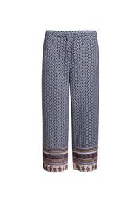 Niebieskie spodnie Deha z aplikacjami, na lato