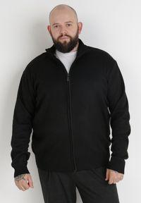 Born2be - Czarny Sweter Z Wełną Asoania. Typ kołnierza: golf. Kolekcja: plus size. Kolor: czarny. Materiał: wełna. Długość rękawa: długi rękaw. Długość: długie