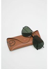 Zielone okulary przeciwsłoneczne Ray-Ban owalne, gładkie