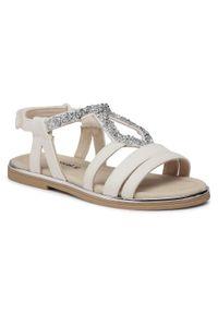 Mayoral - Sandały MAYORAL - 43271 Blanco 29. Kolor: biały. Materiał: skóra ekologiczna, materiał. Wzór: aplikacja