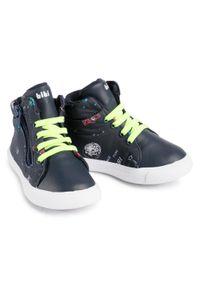 Bibi - Sneakersy BIBI - Agility Mini 1046265 Print/Fun Space/Naval. Kolor: niebieski. Materiał: skóra ekologiczna, materiał, skóra. Szerokość cholewki: normalna. Wzór: nadruk