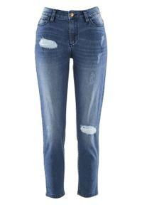 """Wygodne dżinsy z kolekcji Maite Kelly bonprix niebieski """"stone"""". Kolor: niebieski"""