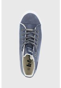 Lee Cooper - Trampki. Nosek buta: okrągły. Zapięcie: sznurówki. Kolor: niebieski. Materiał: guma. Szerokość cholewki: normalna