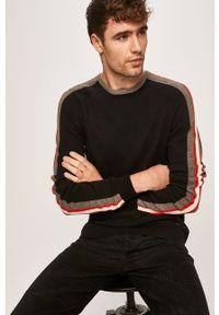 Czarny sweter Blend z okrągłym kołnierzem, na co dzień
